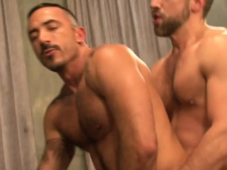 Big dick boy rimming with cumshot