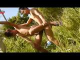 Blazing Asian Men Screw In The Bush