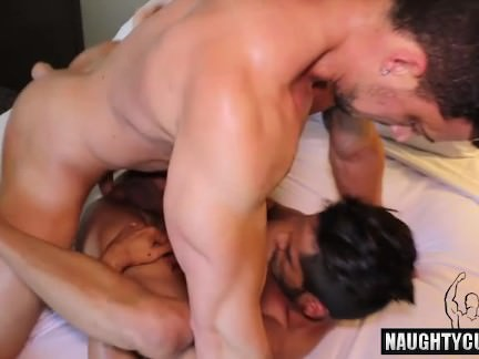 Brunette Gay Hardcore Anal Sex And Facial Gay XXX Gay Porn Tube Video Image