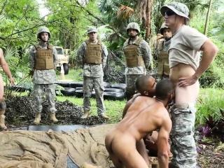 Ebony army hunks sucking white cock outdoor Military XXX Gay Porn Tube Video Image