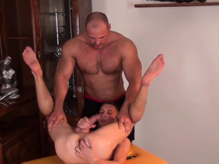 European twink gets rimjob and handjob Massage XXX Gay Porn Tube Video Image