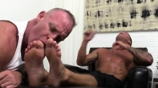 Gay feet thumbs Dev Worships Jason James' Manly Feet