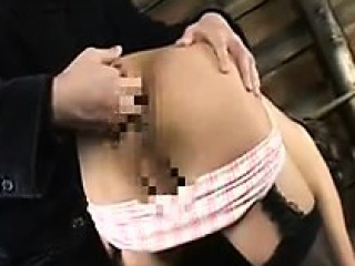 Horny Japanese crossdresser gets his ass fingered and his d