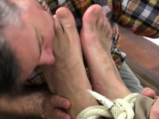 Hot Gay Legs Lick Chase LaChance Tied Up, Gagged & Foot Wors