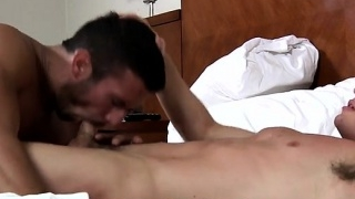 Hot jock flip flop with facial cum