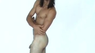 Long Haired Straight Surfer Does Photoshoot, Jacks Off, Showers
