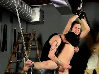 Male Bondage Slave Training Gay Wanked To Completion By Adam