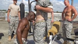 Military Gay Soldiers Group Anal Blowjob Black Cock