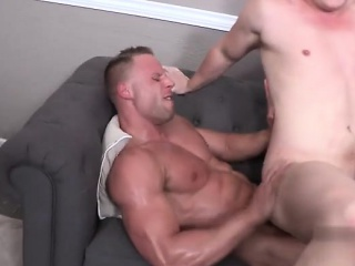 Muscle gays anal sex and facial