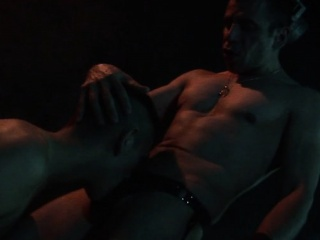 Older SM Stud Deepthroats His Kneeling Twink Slave BDSM XXX Gay Porn Tube Video Image