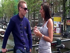 Real amsterdam hooker doggystyled by tourist