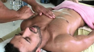 Sweetheart is delighting stud with unfathomable massage