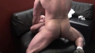 Tattoo gay oral sex and facial cum