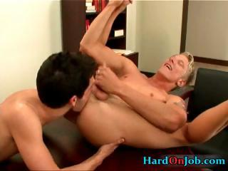 Two horny colleagues fucking and sucking part2 Gaping XXX Gay Porn Tube Video Image