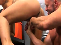 Video Old Gay Dude Drilling Puny Twink Horny Office Butt