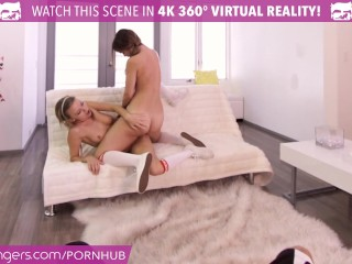 VR Bangers – DILLION and PRISTINE SCISSORING after NAKED Racquetbal Virtual Reality XXX Gay Porn Tube Video Image